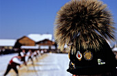Man with traditional Bavarian hat watching the folklore show in Wals-Siezenheim, Salzburg, Austria