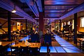 View inside empty the restaurant Back und Brau, West Zurich, Zurich, Canton Zurich, Switzerland