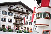 Gasthof Post in Lofer, hier soll Mozart übernachtet haben, Salzburg, Salzburger Land, Österreich