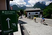 Mozart cycle route through Lofer, Salzburg, Austria