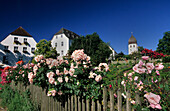 Nunnery garden, Frauenchiemsee, Lake Chiemsee, Chiemgau, Bavaria, Germany