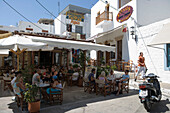 Outdoor Cafe in Skala, Patmos, Dodecanese Islands, Greece