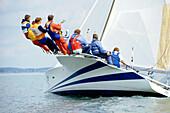 Close up of a sailing boat, Sport
