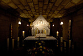 Interior view of the Willibrordus Cathedral's crypt, Echternach, Luxemburg, Europe