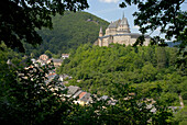 View of Vianden castle, Luxembourg, Europe