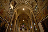 Interior view of Notre-Dame Cathedral, Luxembourg city, Luxembourg, Europe