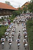 Procession in Tradional Costumes, Konigsdorf, Upper Bavaria, Germany