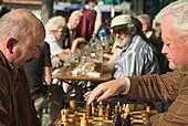 Viktualienmarkt, Munich, Bavaria, Germany, Travel, People, Beergarden, Beer, Chess, Chess Player