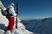 Man, Valley, Skier, Falkertsee, Carinthia, Austria