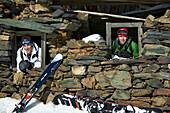 Men, Hut, Falkertsee, Carinthia, Austria