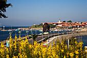 Blick auf Hafenstadt Nessebar, Schwarzmeerküste, Bulgarien, Europa