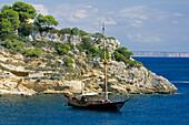Spain Majorca, Portals Vells, sailing ship, mediteranean sea, Majorca, Balearic Islands, Spain, Europe