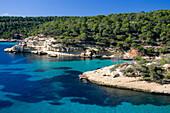 Küstenlandschaft in der Nähe von Portals Vells, Mittelmeer, Mallorca, Spanien