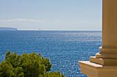 View over Mediterranean Sea, Hotel Maricel, Palma de Mallorca, Majorca, Spain