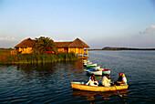 Lagune suites on the waters edge, Hotelito Desconocido south of Puerto Vallarta, Mexico