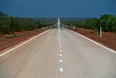 Heat haze on Highway Nr. 1 south of Broome, Western Australia