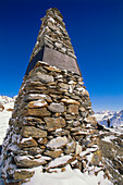 Place of discovery of Oetzi (Man of Similaun), Tisenjoch, Oetztal Alps, South Tyrol, Italy