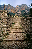 Old path of pilgrimage underneath L'Ofre, Majorca, Baleares, Spain