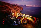 Harley Davidson, coastline, Lucia, Big Sur, Highway 1, California, USA