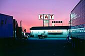 Truck stop Wheel Inn, Interstate 10, South California, USA