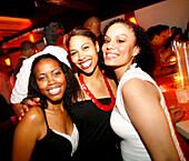 Three girls having fun in a nightclub, Club Five, Washington DC, United States, USA