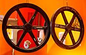 Oddities, wheels in Dada Antiques, Washington DC, United States, USA