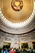 Dome ceiling, Rotunda interior, United States Capitol, the United States Congress, the legislative branch of the U.S. federal government, Washington DC, United States, USA