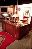 A desk in the J Edgar Hoover room, FBI, Scottish Rite Temple, Washington DC, United States, USA
