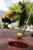 People playing miniature golf, Tyrol, Austria
