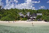 Bathing tourists, Fafa Island Resort, Tonga, South Seas