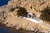 Wedding at Saint Paul's Chapel, Saint Paul's Bay (Agios Pavlos), Lindos, Rhodes, Greece