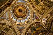 Interior of St. Isaac's Cathedral, (Issaakievsky Sobor), St. Petersburg, Russia