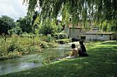 Creekside Relaxation, Godmanstone, Dorset, England, Great Britain