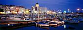 Townscape with harbour, St.Raphael, Cote d´Azur, Provence, Alpes Maritimes, France, Europe