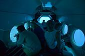 Fahrt im U-Boot in 50 Metern Tiefe, Atlantis Submarine Adventure, Aruba, ABC-Inseln, Niederländische Antillen, Karibik