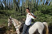 Horseback Riding Through Cactus Fields, Rancho Notorious, Aruba, Dutch Caribbean