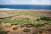 Luftaufnahme vom Tierra del Sol Golfplatz, Aruba, ABC-Inseln, Niederländische Antillen, Karibik