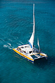Aerial Photo of Palm Pleasure Catamaran, Aruba, Dutch Caribbean
