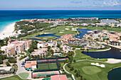 Luftaufnahme vom The Links Golf Club, Aruba, ABC-Inseln, Niederländische Antillen, Karibik