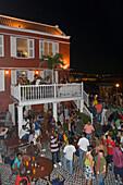 Halloween-Party im Gouverneur De Rouville Restaruant, Otrabanda, Willemstad, Curacao, ABC-Inseln, Niederländische Antillen, Karibik