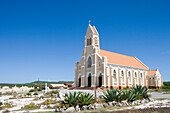 Agaves and Church, St. Willibrordus, Curacao, Netherlands Antilles