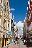 Heerenstraat Einkaufsstraße in Punda, Willemstad, Curacao, ABC-Inseln, Niederländische Antillen, Karibik