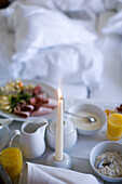 Breakfast in a hotel, Dresden, Saxony, Germany
