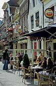 Alkmaar, restaurants at marketplace, Netherlands, Europe