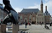 Haarlem, Grote Markt with Stadthuis, Netherlands, Europe