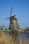 Windmills at Kinderdijk, Netherlands, Europe