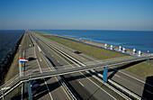 Closure dike between Northsea and Ijsselmeer, Netherlands, Europe