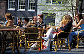 Streetcafe at Torensluis, Singel, Amsterdam, Holland, Netherlands
