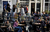 Streetcafe at Leliegracht, Amsterdam, Holland, Netherlands