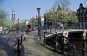 Westerkerk and Prinsengracht, Amsterdam, Holland, Netherlands